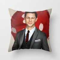 inception Throw Pillows featuring Inception - Arthur by Mel Hampson