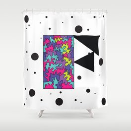 Letter F Shower Curtain