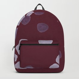 Bright Spring Petals in Burgundy Backpack