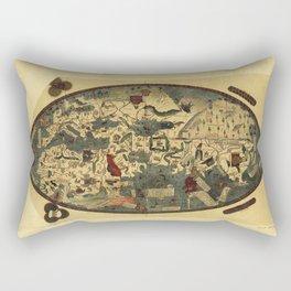 Genoese World Map (1457) Rectangular Pillow