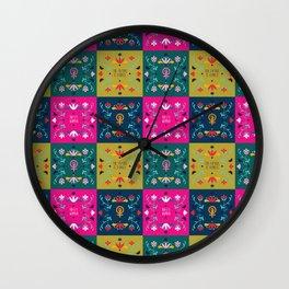 Feminist Quilt Wall Clock