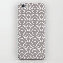 Fan Pattern Gray 245 iPhone Skin