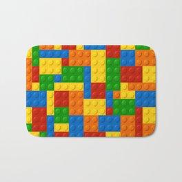 Building Blocks Blocks Pattern Colorful Boy Decor Bath Mat