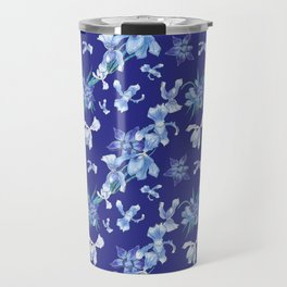 Orchids in a blue night Travel Mug