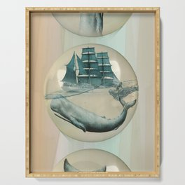 The Battle - Captain Ahab and Moby Dick Serving Tray