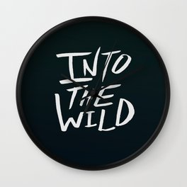 Into the Wild x BW Wall Clock