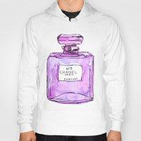 perfume Hoodies featuring perfume purple by watercolor & ink