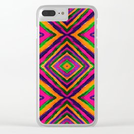 Rainbow Painted God's Eye - Pink Clear iPhone Case