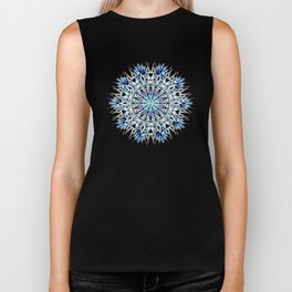 ice flake winter mandala Biker Tank