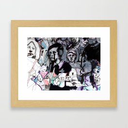The Purple Mercury People Framed Art Print