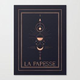 La Papesse or The High Priestess Tarot Canvas Print
