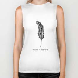 Feather and Quote no.3 Biker Tank