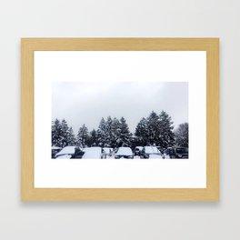 Wolfville Snow Framed Art Print