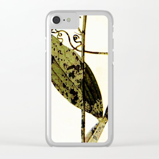 modern sweet peas Clear iPhone Case