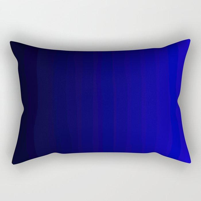 Rich Vibrant Indigo Blue Gradient Rectangular Pillow