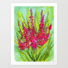 Pink Bouquet By Pam Hayes- Art Print
