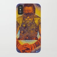miles davis iPhone & iPod Cases featuring Miles by Kip Sikora