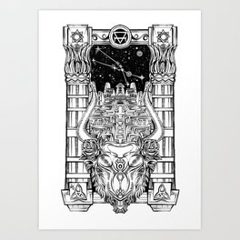 Minotaur's Labyrinth Art Print