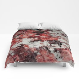 The Faces in the Ruby Red Snow Comforters