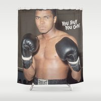 ali Shower Curtains featuring Ali #1 by YBYG