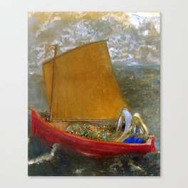"Odilon Redon ""La Voile jaune (The Yellow Sail)"" Canvas Print"