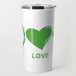 Peace Love Irish St Patrick's Day Travel Mug