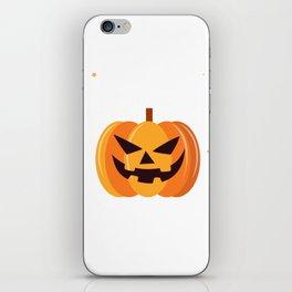 Scary Pumpkin Happy Halloween iPhone Skin