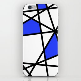Geometric Modern triangles - white blue iPhone Skin