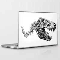 trex Laptop & iPad Skins featuring Jurassic Bloom - The Rex.  by Sinpiggyhead