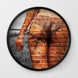 Urban Girl on Countryside Wall Clock