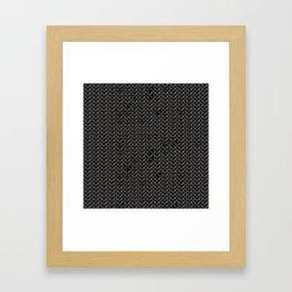 Chain Mail Texture Framed Art Print