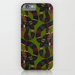 geo snakes iPhone Case