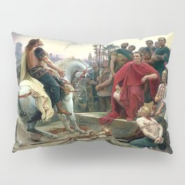 Vercingetorix Throws Down His Arms At The Feet Of Julius Caesar Pillow Sham