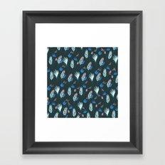 Exotic Flower - Blues Pattern Framed Art Print