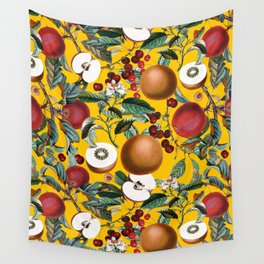 Vintage Fruit Pattern V Wall Tapestry