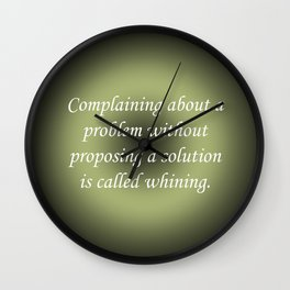 Complaining Without Proposing Wall Clock