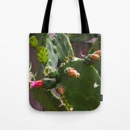 Summer Cactus in Flower Tote Bag