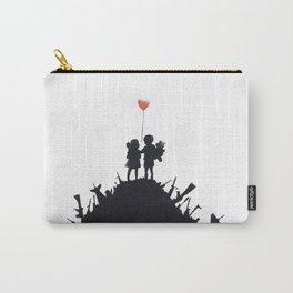 Banksy Two Children With Love Balloon At War Destruction Garbage, Streetart Street Art, Grafitti, Ar Carry-All Pouch