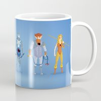 thundercats Mugs featuring Thundercats - Pixel Nostalgia  by Boo! Studio