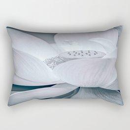 Lotus in Blue and White Rectangular Pillow