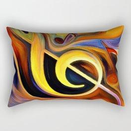 music, painting Rectangular Pillow