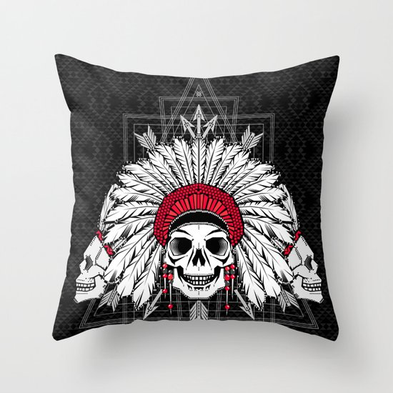 Southern Death Cult Throw Pillow