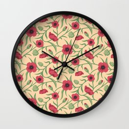 Vintage floral pattern No2  Wall Clock