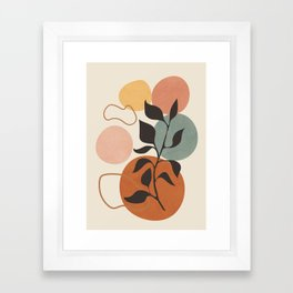 Abstract Minimal Shapes 23 Framed Art Print