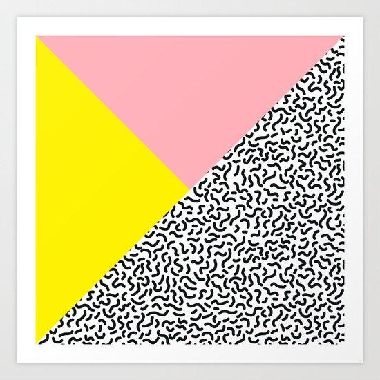 Memphis pattern 28 Art Print