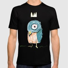 Stressed out Little King Bird  LARGE Black Mens Fitted Tee