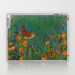 Winter Glimpses - Wren and Physalis Laptop & iPad Skin