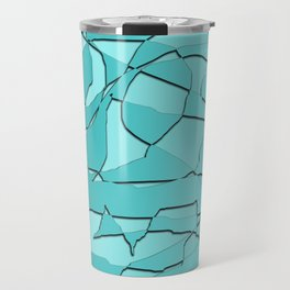 Shattered Teal Travel Mug