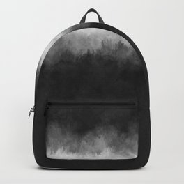 Dark Charcoal and White Abstract Backpack