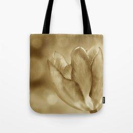 Tulip (Sepia) Tote Bag